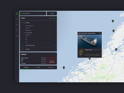 Fleet management dashboard application interface minimalistic norwegian web design clean modern interaction design maritime ui design ui dashboard