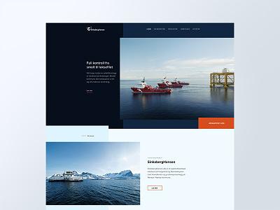 SinkabergHansen web design interaction design shipping pisciculture clean maritime modern design norwegian ux ui