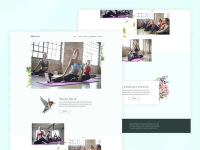 FFH Helse web design interaction design yoga clean nature modern design wellness health norwegian ux ui