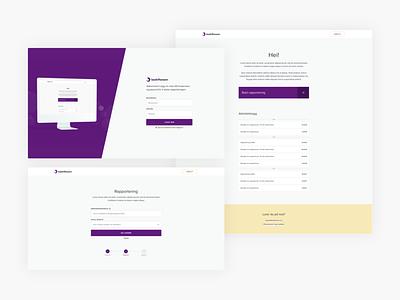 Web system design application minimalistic norwegian web design system design clean modern ux ui interaction design