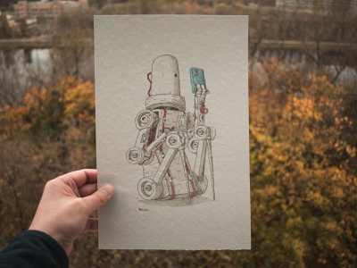 Refreshinator watercolor drawing doodle draw illustration art ink