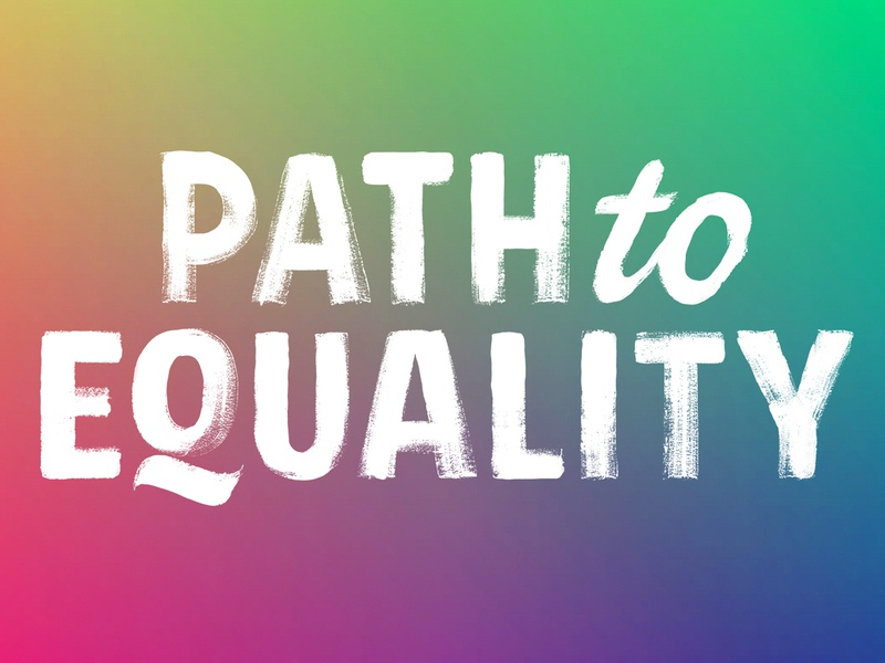 PathToEquality.com.au custom type logotype texture dry brush brush blm lettering
