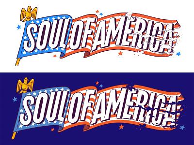 Mother Jones: Soul of America biden usa patriotic letter custom type editorial illustration lettering flag