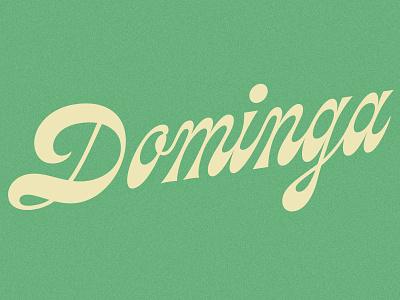 Dominga 70s alcohol custom type type reverse contrast script logo branding lettering logotype beer