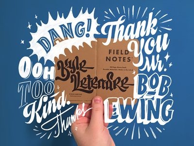 Thanks, Bob! sign painting show card illustration hand custom type type field notes lettering