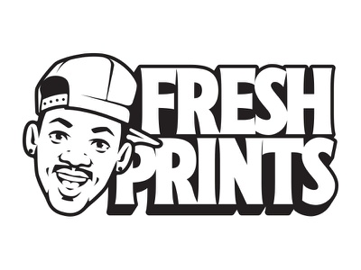 Fresh Prints! will smith prince prints fresh monochrome sign painting show card lettering