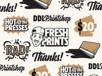 DDL Printshop Stickers