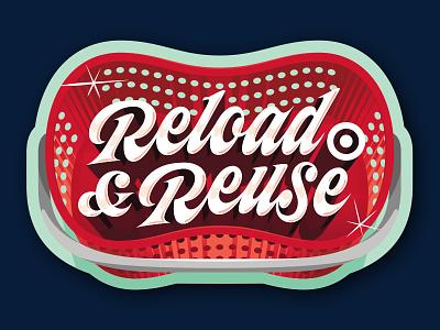 Target Gift Card: Reload & Reuse juicy custom type chrome gift card dimension script lettering
