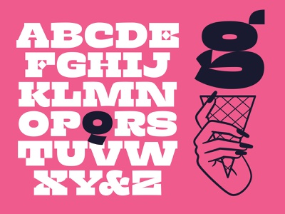 Dotties Chocolate illustration typeface design type new type sign painting serif slab ice cream graphic design typeface font type design
