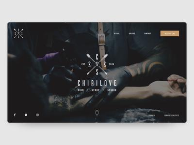 Tattoo Studio Landing Page Design