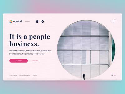 Oprandi Landing Page Design