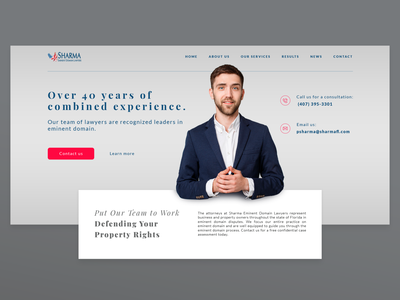 Sharma Lawyers Website UI