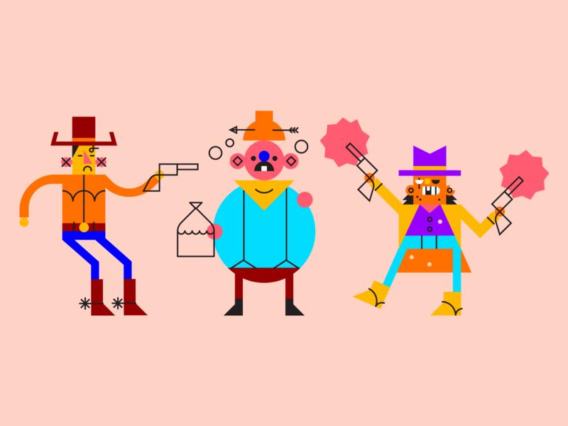 Varmints. yeehaw varmints outlwas illustration cowboys characterdesign
