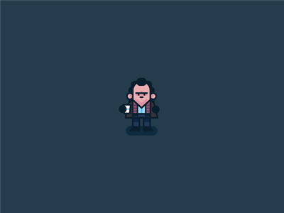 Phil? Phil Connors!? vector groundhog day flat design character bill murray