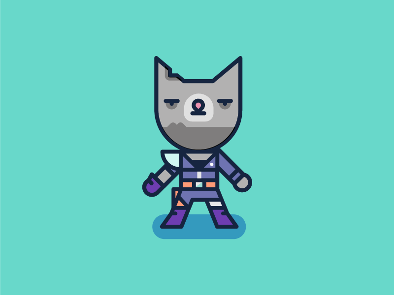 Meow'd Max mad max cat vector post apocalypse illustration design character