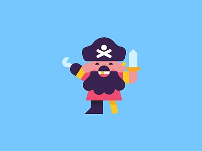 Arrr. vector illustration design character pirate