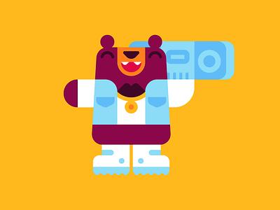 B-Bear boombox bear b-boy design character