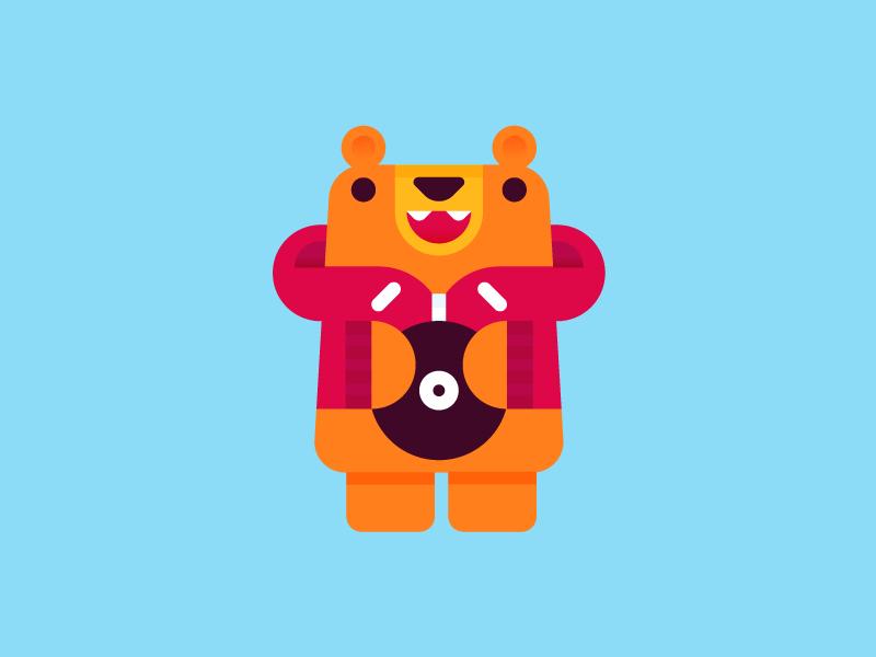Friend of B-Bear. vinyl record design character bear b-boy