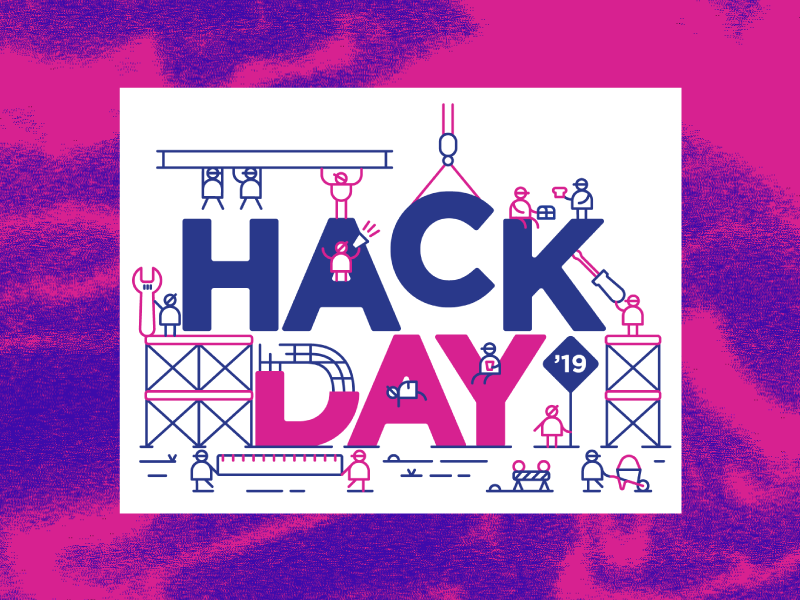 Hack Day 2019. character design hack day illustration construction