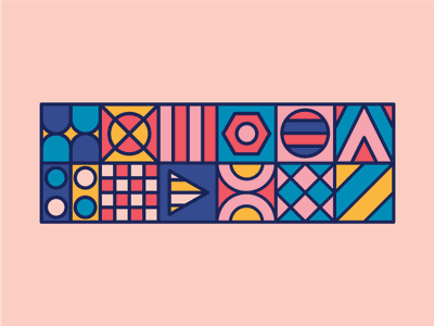 Tapestry. abstract pattern illustration flat shapes