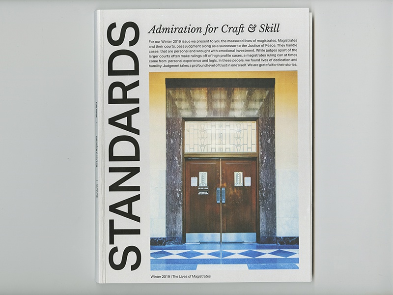 STANDARDS Magazine Cover magistrates layout graphic design magazine cover cover magazine