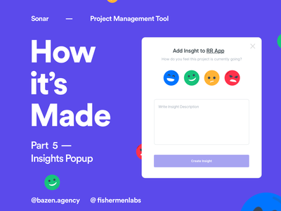 Sonar Project Management Tool - Insights popup design color design uidesigner uidesign uiux design uiuxdesign uiux design agency design tip designtips designtip web app design uxui ui design dashboard web app ux design ui ux product design