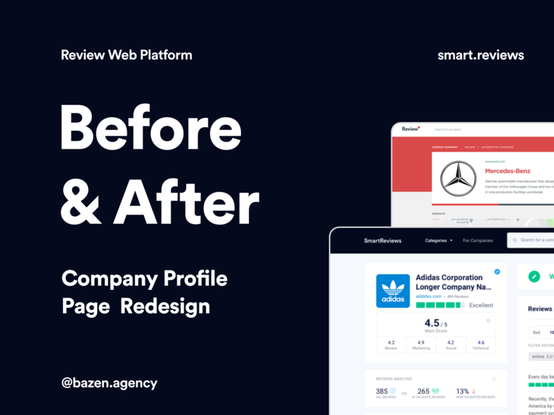Smart.Reviews - Before & After uiux product designer web design agency web designer web design web platform platform platform design design agency cards design cards uxui dashboard design ui design dashboard web app ux design product design ui ux