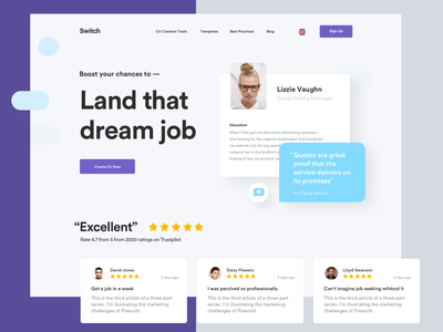Switch product design bazen agency design agency user interface user experience resume design resume clean curriculum vitae dashboard app dashboard ui dashboard uidesign ui web design webdesign cv resume template cv template cv resume cv design