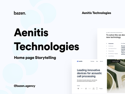 Aenitis Technologies - Homepage storytelling layout exploration layout design ux ui design inspiration redesigned redesign concept bazen agency medical website design medical website medical design medical app homepage design home pagedesign storytelling home page home page design home page ui medicine logo medicine app