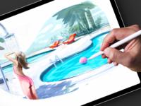 Swimming Pool Illustration for bazen.