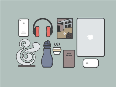 Gear UP! debut gear macbook headphones ampersand coffee offscreen magazine apple field notes iphone 4s magic mouse