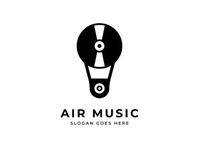 Hot Air Balloon Music Logo Design