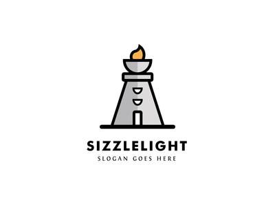 Flame Lighthouse Logo Design