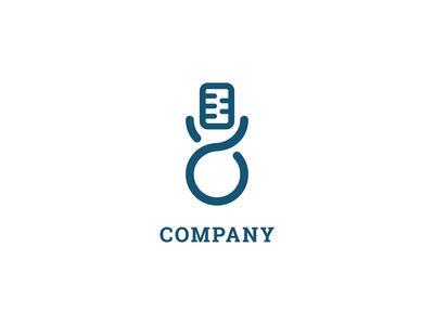 Microphone Music Loop Logo Design