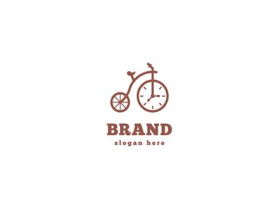 Bicycle Clock Logo Design