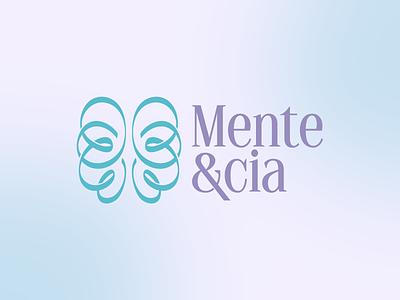 Mente&cia vector logo illustration design branding