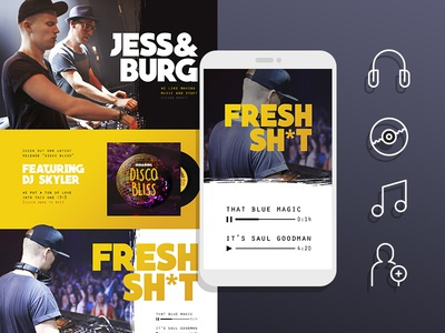 Breaking Bad inspired DJ website