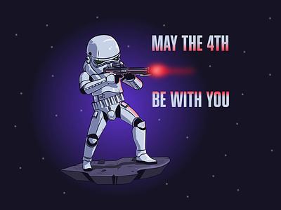 Stormtrooper starwarsday starwars stormtrooper design flat design vector illustration