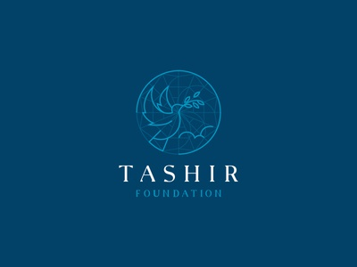 Tashir foundation geometric line minimal mark russia logo design help save branch diamond cloud art pigeon foundation