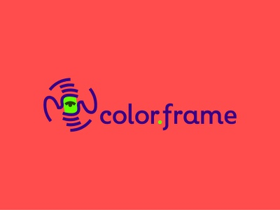 Color.Frame lens eye minimal mark russia logo lineart point glass hand photography color photo frame
