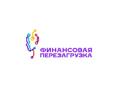 Finance reload brain chip microchip face russia mark money coin head identity logo reload finance
