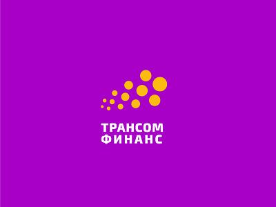Transcom Finance minimal gold speed train identuty transfer coin finance money russia mark logo