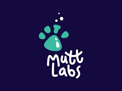 Labs for dog food minimal design symbol mark logo food chemistry bubbles experiment glass beaker pet dog laboratory labs lab