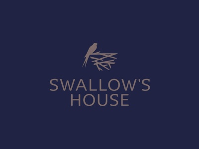 Swallow's house minimal branding simple house design interior logo nest bird swallow