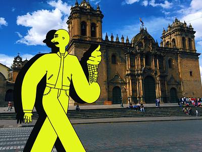 Cusco, Peru latin america peru travel photography illustration colorful design