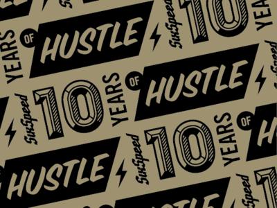 SixSpeed 10-year Anniversary pattern typography minnesota illustration design
