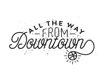 From Downtown typography