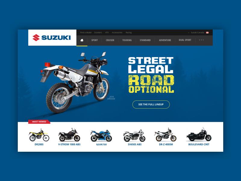 Suzuki Canada  automotive ux design motorcycle