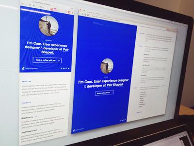 Portfolio v1.0 two column minimal front-end ux design