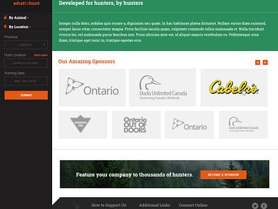 Hunting Regulation Website reponsive ux design hunting
